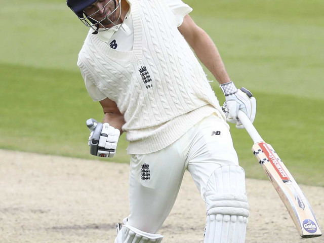 Dom Sibley, England and West Indies, England's Dom Sibley celebrates scoring a century